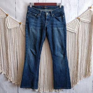 Levi's 524 Too Superlow Blue Denim Flare Jeans 5 M